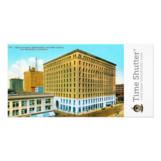 Mills Building, Montgomery and Bush Streets, San F Personalized Photo Card