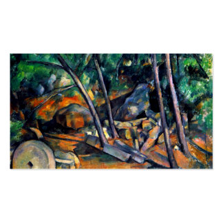 Millstone in the Park by Paul Cezanne colorful art Pack Of Standard Business Cards
