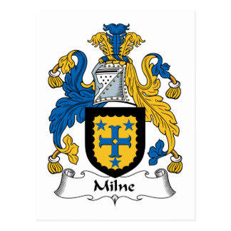 Milne Family Crest Postcard