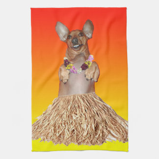Milner The Dancing Dachshund Kitchen Towel