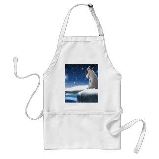 Milo in the snow standard apron