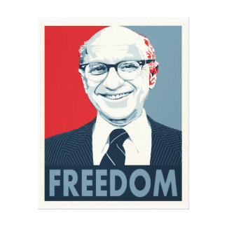 Milton Friedman Canvas Print