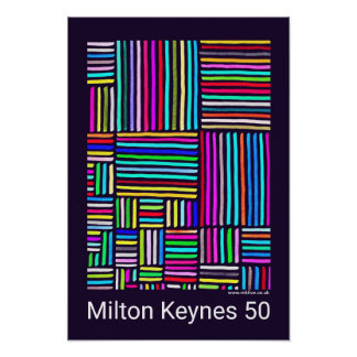 Milton Keynes 50 (years of) poster by Robert Rusin