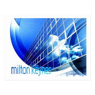 Milton Keynes 'happy blue' postcard