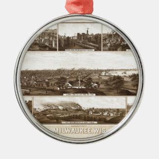 Milwaukee 1882 metal ornament