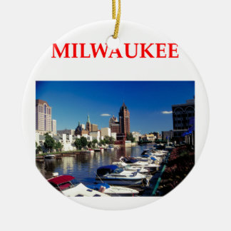 milwaukee ceramic ornament