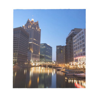Milwaukee Night Skyline Notepad