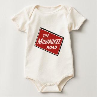 Milwaukee Road Railway Sign 2 Baby Bodysuit