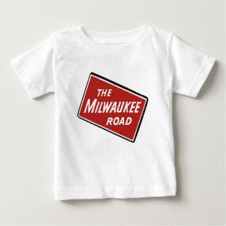 Milwaukee Road Railway Sign 2 Baby T-Shirt