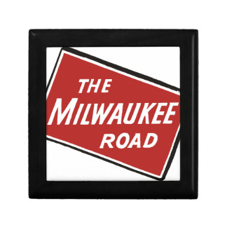 Milwaukee Road Railway Sign 2 Small Square Gift Box