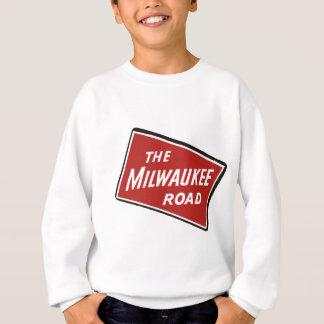 Milwaukee Road Railway Sign 2 Sweatshirt