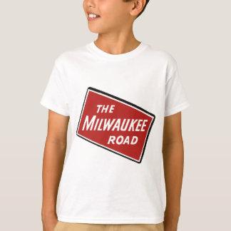 Milwaukee Road Railway Sign 2 T-Shirt