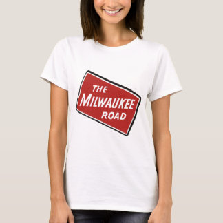 Milwaukee Road Railway Sign 2 T-Shirt