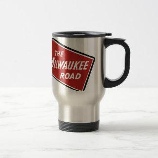 Milwaukee Road Railway Sign 2 Travel Mug