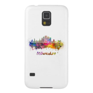 Milwaukee V2 skyline in watercolor Galaxy S5 Case