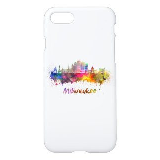 Milwaukee V2 skyline in watercolor iPhone 7 Case