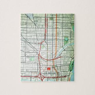 MILWAUKEE Vintage Map Jigsaw Puzzle