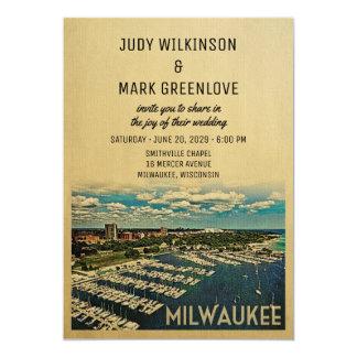 Milwaukee Wedding Invitation Vintage Wisconsin