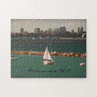 Milwaukee, WI Skyline Jigsaw Puzzle