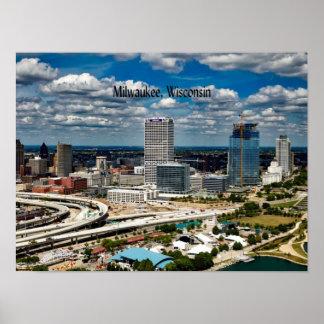 Milwaukee, Wisconsin cityscape Poster