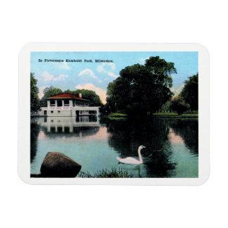 Milwaukee, Wisconsin, Humboldt Park, Vintage Magnet