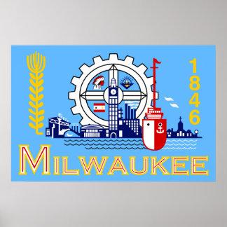 Milwaukee, Wisconsin, United States flag Poster