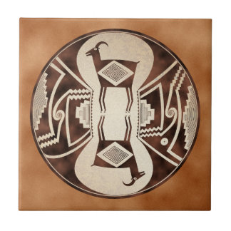 Mimbres Mirrored Sheep Ceramic Tile