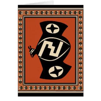 Mimbres Tribal Bat Card
