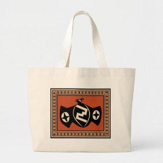 Mimbres Tribal Bat Large Tote Bag