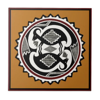 Mimbres Tribal Spirits Small Square Tile