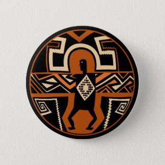 Mimbres Warrior 6 Cm Round Badge