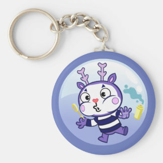 Mime in a Bubble Basic Round Button Key Ring