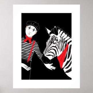 Mime Zebra poster