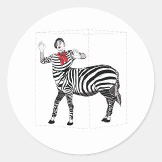 Mimebrataur Round Sticker
