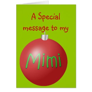 Mimi Christmas ornament card