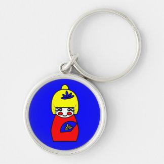 Mimi (Kokeshi Doll) Key Ring Keychains