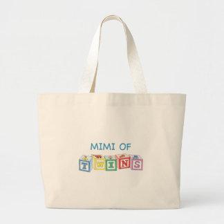 Mimi of Twins Blocks Jumbo Tote Bag