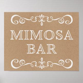 Mimosa Bar Chalkboard Rustic Wedding Sign