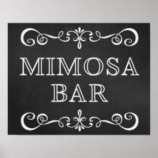 Mimosa Bar Chalkboard Wedding Sign