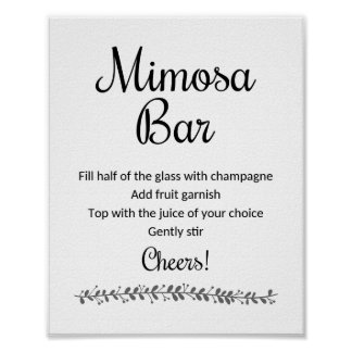 Mimosa Bar Sign - Rochester Poster