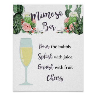 Mimosa Bar Wedding Bridal Shower Sign - Fiesta