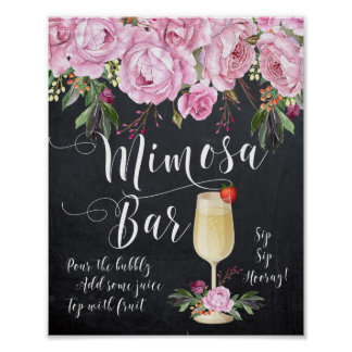 Mimosa Bar Wedding Sign Lilac Floral