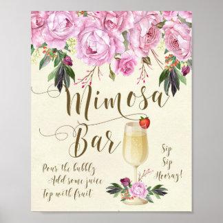 Mimosa Bar Wedding Sign Lilac Poster