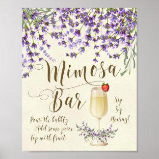 Mimosa Bar Wedding Sign Lilac purple lavender