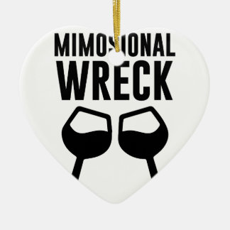 Mimosional Wreck Ceramic Ornament