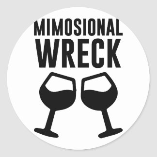 Mimosional Wreck Classic Round Sticker