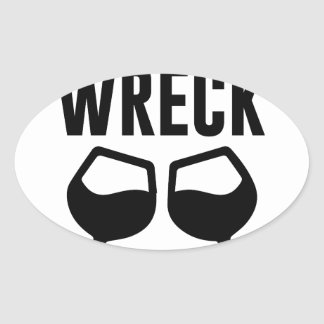 Mimosional Wreck Oval Sticker