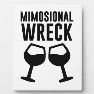 Mimosional Wreck Plaque