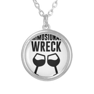 Mimosional Wreck Silver Plated Necklace