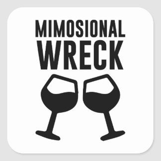 Mimosional Wreck Square Sticker